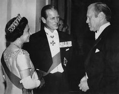 Queen Elizabeth II of England, Duke of Edinburgh Prince Philip, US President Gerald Ford, 1976 Hm The Queen, Save The Queen, King Queen, Young Prince Philip, Prince Phillip, Elizabeth Philip, Queen Elizabeth Ii, Betty Ford, English Royalty