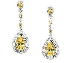 Judith Ripka Sterling 14.65cttw Diamonique Drop Earrings