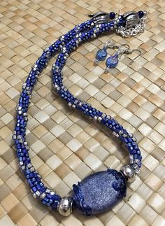 Frosted Blue Bling Beaded Kumihimo Braiding Set,kumihimo patterns