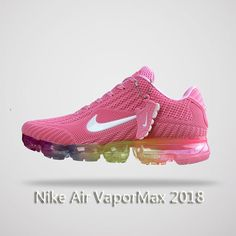 Nike Air Vapormax 2018 Women Running Shoes Pink Colorful. These shoes make me happy! Cheap Nike Air Max, Nike Air Vapormax, Pink Running Shoes, Fashion Forward, Cleats, Colorful, Sneakers Nike, Cute Socks, Sock Shoes