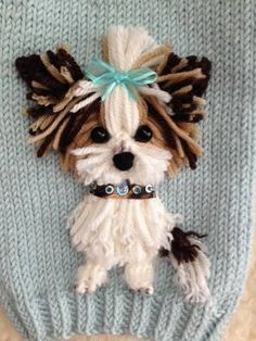Dog Clothing dog sweaters More Baby Knitting Patterns, Dog Clothes Patterns, Knitting Stitches, Embroidery Stitches, Embroidery Patterns, Hand Embroidery, Crochet Patterns, Knitting Ideas, Crochet Dog Sweater