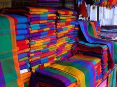 Otavalo Market colors in Quito, Ecuador