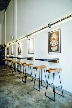 Modern Restaurant Design, Restaurant Concept, Cafe Restaurant, Coffee Shop Design, Small Coffee Shop, Coffee Shop Aesthetic, Cafe Concept, Small Restaurants, Restaurant Interior Design
