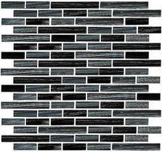 Too Dark?  Linear Glass Tile - GA4006 Bamboo Linen Glass Tile Linear Strips Sticks Mosaic - Glossy