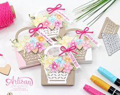 Stampin Up Osterkörbchen - kleine Frühlingsverpackungen