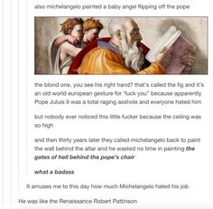 Michelangelo must've hated his job