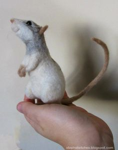 How can a rat look so appealing? When he's needle felted!
