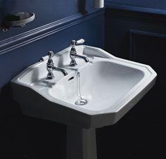 Granely Basin & Pedestal. £390  www.heritagebathrooms.com