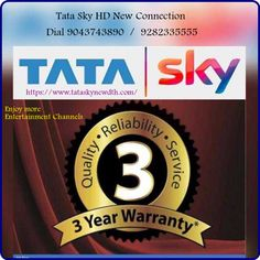 Give a call – 9043743890 for Tata Sky New SD and HD Connection in Chennai. Sky New, High Pictures, Dolby Digital, Chennai, Sd, Connection, Cable, Delivery, Budget