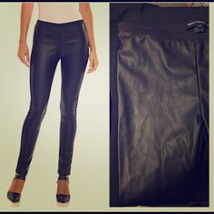 NWT French Connection Faux-leather jeggings So beautiful and never been worn! Only selling because they are too big on me! These are so awesome and perfect for fall/winter! French Connection Pants