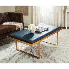 "SAFAVIEH Millie Loft Navy/Gold Coffee Table - 48"" x 28"" x 18"" - On Sale - Overstock - 13453308"
