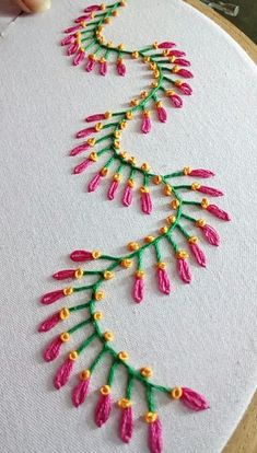silk ribbon embroidery designs and techniques Simple Embroidery Designs, Hand Embroidery Videos, Crazy Quilt Stitches, Creative Embroidery, Embroidery Supplies, Embroidery Stitches Tutorial, Embroidery Kits, Knitting Stitches, Hand Work Embroidery