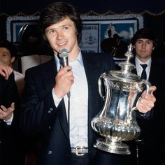 Steve Perryman with the FA Cup