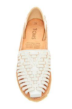 Perfect summer sandal.  TOMS Huarache Slip-Ons