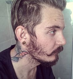 Wonderful Flying Bird Tattoo On Man Side Neck