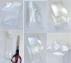 Box from plastic bottle