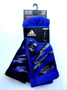 Adidas ClimaLite Compression Odor Resistant Camo Crew Athletic Socks 2 Pairs | eBay
