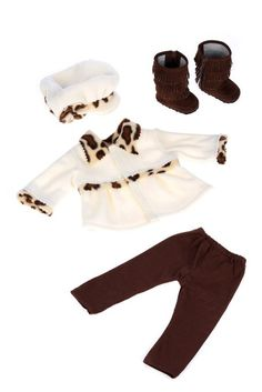 Amazon.com: Marshmallow - 4 Piece Outfit - Coat, Hat, Leggings and Boots. (Doll Not Included): Toys & Games