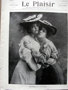 French music hall entertainer, Suzanne Derval and the actress and courtesan Liane Pougy.
