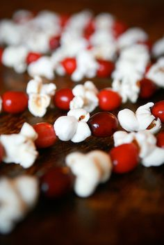 cranberries and popcorn garland