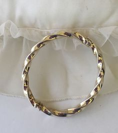 Milor Italy Bracelet Sterling Silver 925 Twist Hinged Bangle Safety Clasp #Milor #Hinged