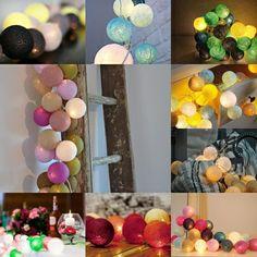 Färgglada ljusslingor #cottonballights #inredningstips #heminredning #presenter#produkter#mysigt#belysning