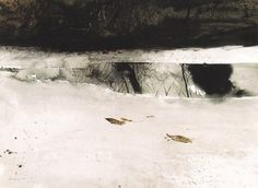 Andrew Wyeth | Andrew Wyeth Ice Pool Watercolor 1969