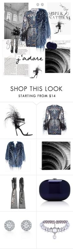 """""""Feather Mood"""" by vilen ❤ liked on Polyvore featuring Lara, Yves Saint Laurent, Elie Saab, Emilio Pucci, iCanvas, Dolce&Gabbana, Jeffrey Levinson and WithChic"""