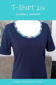 T-Shirt Liv - ein Lieblingsschnitt, schnell genäht von Chrimona nach dem Schnitt Liv von Pattydoo