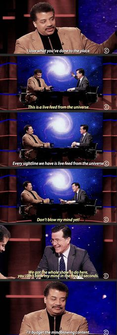 Funny pictures about Neil Degrasse Tyson Visits Colbert. Oh, and cool pics about Neil Degrasse Tyson Visits Colbert. Also, Neil Degrasse Tyson Visits Colbert photos. Funny Images, Funny Photos, We Are Bears, Science Humor, Science Quotes, Funny Science, Science Geek, Science Facts, String Theory