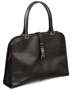 Onquestyle - Gucci Black Leather Zip Handle Framed Tote Handbag, $250.00 (http://www.onquestyle.com/gucci-black-leather-zip-handle-framed-tote-handbag/)