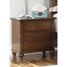 Liberty Hamilton Cinnamon 3-drawer Nightstand - Overstock™ Shopping - Great Deals on Nightstands