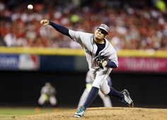 American League's Felix Hernandez, of the Seattle Mariners, throws during the third inning of the MLB All-Star baseball game, Tuesday, July 14, 2015, in Cincinnati.