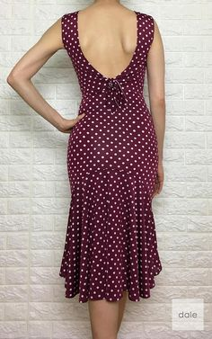tango dress Venezia Sleeveless Wine