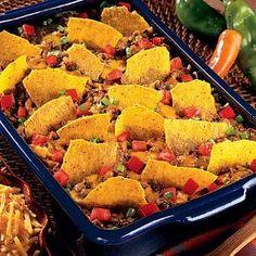 Simple Taco Casserole from Ortega - A great weeknight meal. #recipe #casserole