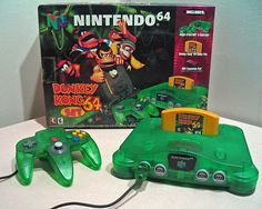 Who remembers this?! lol. you were not cool if you didnt have the GREEN 64 with the donkey kong game! still have mine, but no games :/
