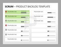 Scrum Produktmanagement: Die Product Backlog-Vorlage für Scrum ermöglicht das Nachvollziehen des Fortschritts Ihrer Aufgaben durch den Fortschrittsbalken. http://www.presentationload.de/scrum-toolbox-powerpoint-vorlage.html