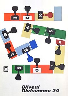 Giovanni Pintori - Olivetti Divisumma 24 Poster, 1954, by ninonbooks, via Flickr