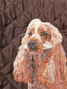 Honey Freehand Machine Embroidery Portrait Commission by Art Sea Craft Sea Freehand Machine Embroidery, Artist Workshop, Sea Crafts, Pet Portraits, Your Pet, Honey, Ink, Pets, Creative