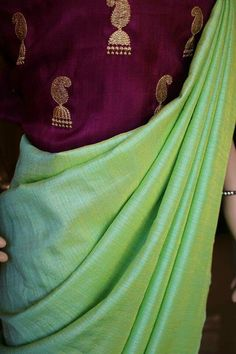 Semi silk/soft silk saree with designer embroidered blouse... Price:2099 Order what's app 7995736811