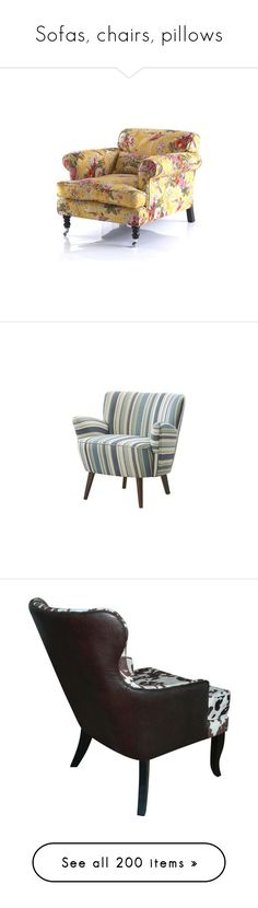 """""""Sofas, chairs, pillows"""" by colonae ❤ liked on Polyvore featuring home, home improvement, fabric, furniture, chairs, madison park furniture, blue chair, blue furniture, madison park chair and chair"""