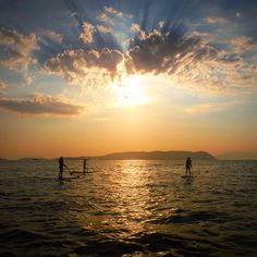 #sporadessup #skopelos #sup #sunset #water #clouds #sun #standupppaddle