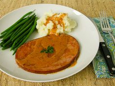 Ham Steaks With Madeira Cream Sauce ~ looks like a good cream sauce!~