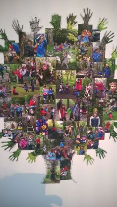outdoor play, early years - lovely way to display learning