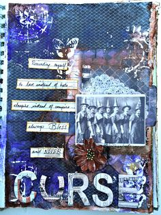 Wicked Gypsy Art Journal - 7gypsies, canvas corp and tattered angels mixed media