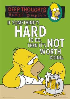 Attractive Cartoon With Funny Quotes. Homeru0027s Philosophy On Life. Deep Thoughts Of  Homer Simpson