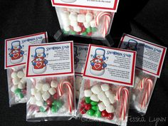 Snowman Soup - Set of 5 - Hot Cocoa & Goodies