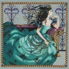 mirabilia+cross+stitch | ... area of Cassiopeia Cross Stitch Chart Fabric Embellishments Mirabilia