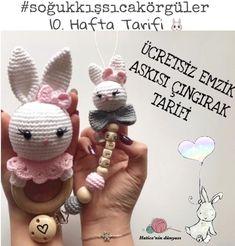 We wish everyone good night with this sweet long ear🥰😘😴 @ … – DIY Crafts Amigurumi Toys, Crochet Patterns Amigurumi, Baby Knitting Patterns, Crochet Baby Toys, Crochet Animals, Acrylic Wedding Invitations, Baby Kit, Baby Rattle, Diy Toys