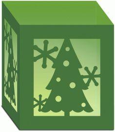 Silhouette Design Store - View Design #53023: christmas tree luminary